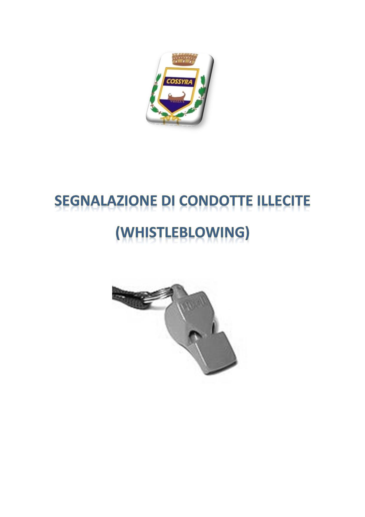 Segnalazione di condotte illecite (Whistleblowing)