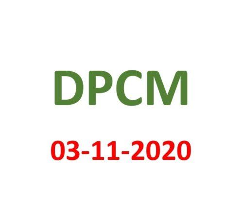 DPCM 03 NOVEMBRE 2020