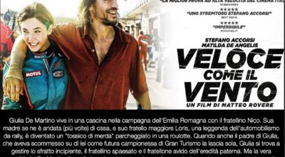 CINEMA SOTTO LE STELLE: Veloce come il vento con Stefano Accorsi