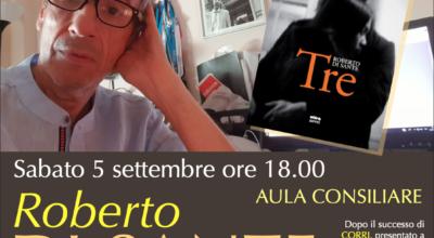 5 settembre: ROBERTO DI SANTE presenta il suo ultimo romanzo 'TRE'