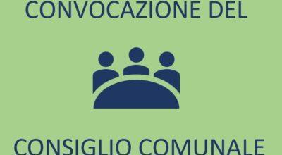 CONVOCAZIONE del Consiglio Comunale in sessione ordinaria